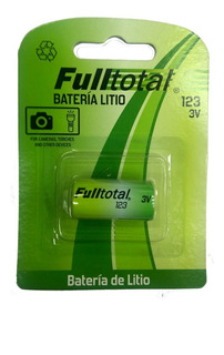 Pila Cr123a Full Total Litio 3v P/ Sensores, Alarmas, Camara