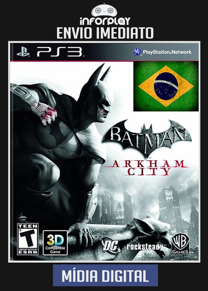 Batman Arkham City Pt-br Ps3 Psn Envio Rápido
