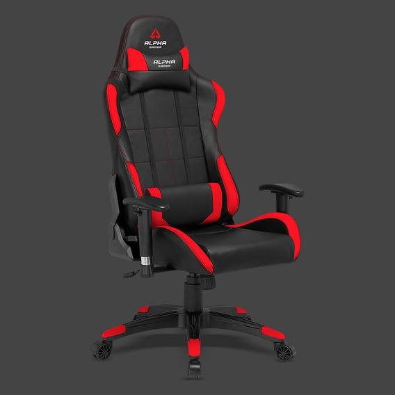 Cadeira Alpha Vega Black Red Em Curitiba