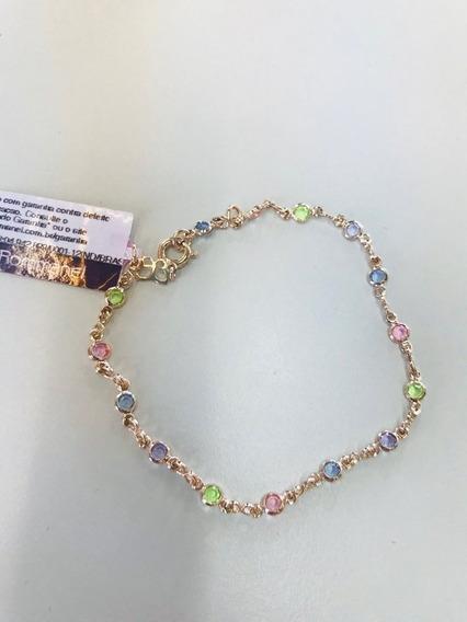 Pulseira Rommanel Pedras Redondas Coloridas 550667