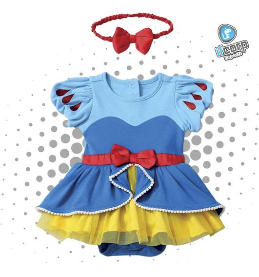 Disfraz Pañalero Bebe Princesa Blanca Nieves Vestido Niña