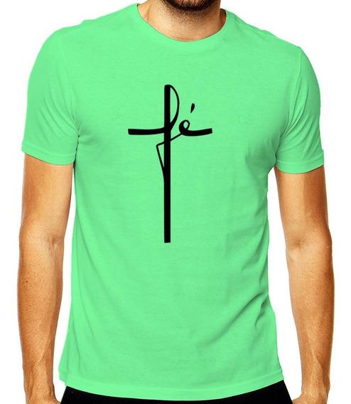 Camiseta Fé Gratidão Personalizado Mod 002