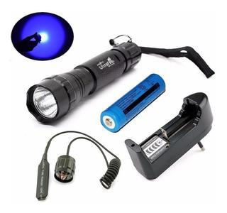 Lanterna Ultrafire 501b Luz Azul Completa