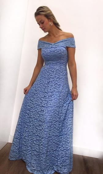 Vestido Feminino Longo Renda Festa Madrinha A10027