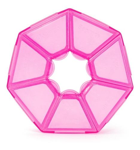 Imagem 1 de 2 de Porta Comprimidos Pink Translúcido Incoterm