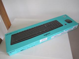 Mouse Y Teclado Inalambrico Logitech Mk235 Con Detalle