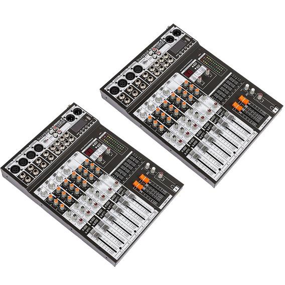 Kit C/ 2 Mesas Soundcraft Sx802fx Analógicas Usb 8 Canais