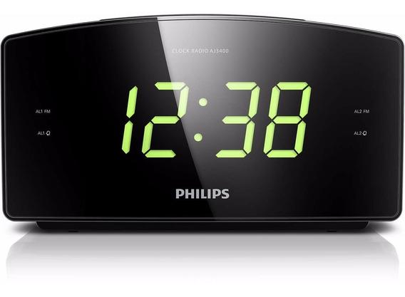 Radio Relogio Digital Philips Aj3400 - Bivolt + Nota Fiscal