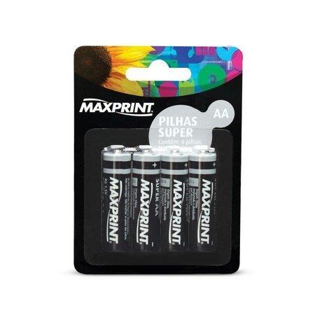 Pilha Super Aa Pequena 4 Un Maxprint 75644-9