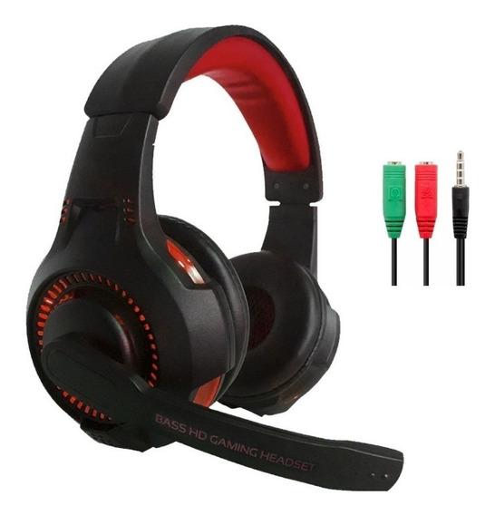 Auriculares Gamer Ps4 Pc Con Microfono Netmak Venger Led