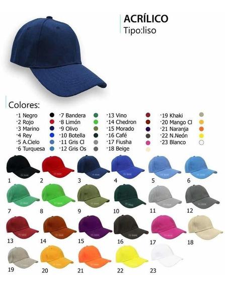 Gorras Para Bordar Acrílico Tenemos Toda La Gama De Colores