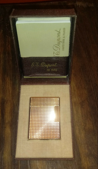 Encendedor Dupont Oro 20µ 1976