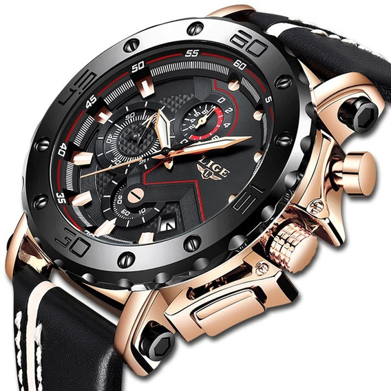 Reloj Hombre Cronografo Importado Fechador Lige