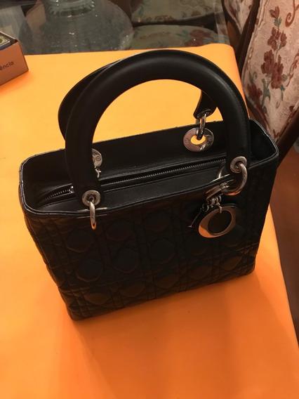 Bolsa Christian Dior Couro Lady Di Original Com Certificado