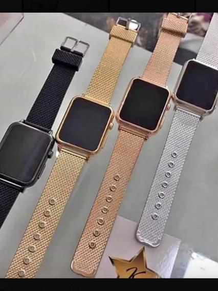 1 Relógio Unissex Led Touch Screnn Eura Para Presentear Top