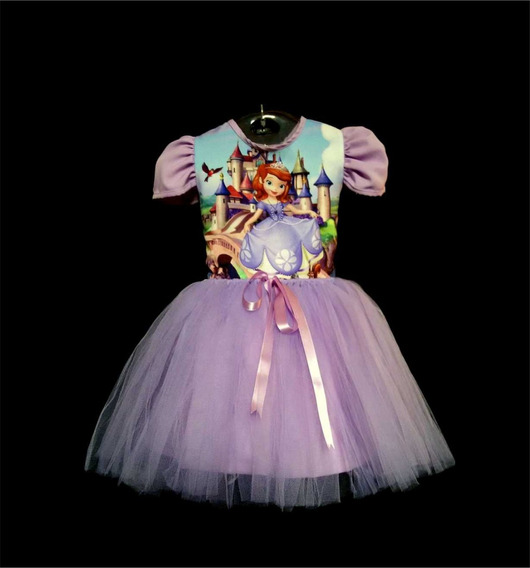 Vestido Infantil Princesa Sofia Fantasia Sofia Bailarina Mod
