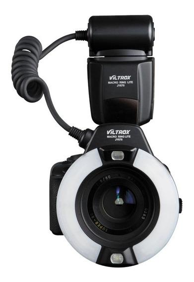 Viltrox Jy-670 Led Macro Anel De Luz Flash P/ Canon E Nikon