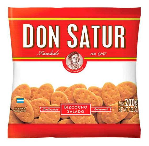 Don Satur Grasa Bizcocho Salado 200g Galletas X1 Unidad