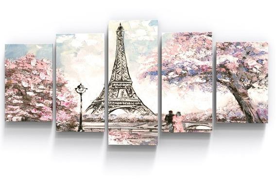 Quadro Decorativo Torre Eiffel Paisagem Casal Sala Quarto