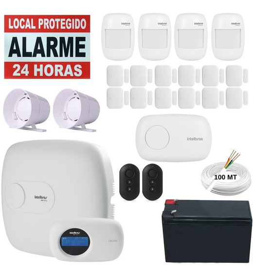 Kit Alarme Amt 2018 Eg Dvr 1004 4 Câmeras Hd 1tb Intelbras
