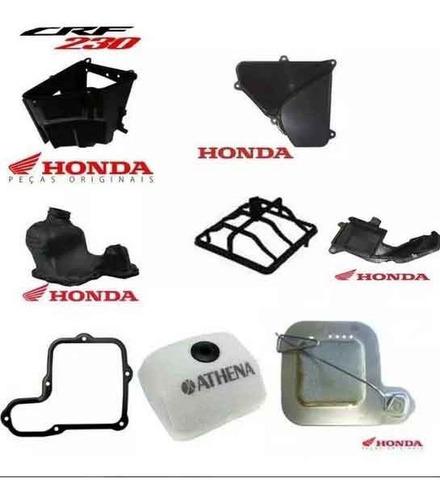 Caixa Ar Completa Original Honda Crf230 Tela Filtro Condutor