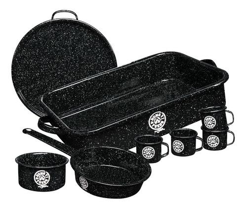 Set Para Carne Asada Humo Y Fuego Cinsa, 8 Piezas De Peltre