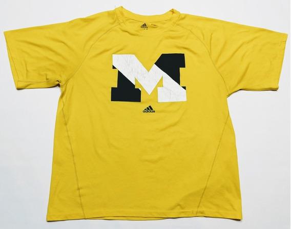 Remera adidas Michigan Talle M Amarilla Climalite
