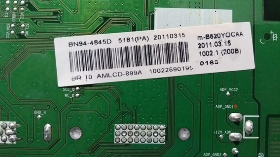 Placa Principal Samsung Bx2031n Com Painel