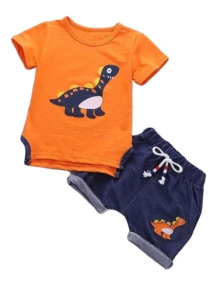 Conjunto Para Bebes Niños Short Y Camisa + Envio B35