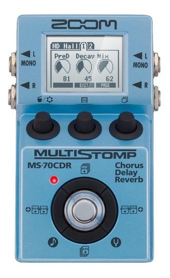 Zoom Pedal Guitarra Multi-efeitos Stompbox Ms-70cdr Chorus