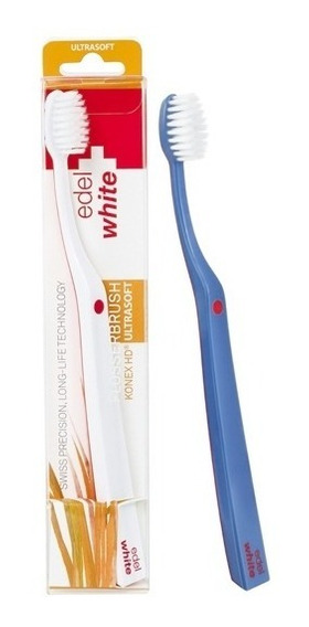 Escova Suíça Edel-white Ultrasoft Flosserbrush Cerdas Konex