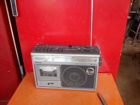 Antigo Rádio E Toca-fita National Em Perfeito Estado Funcion