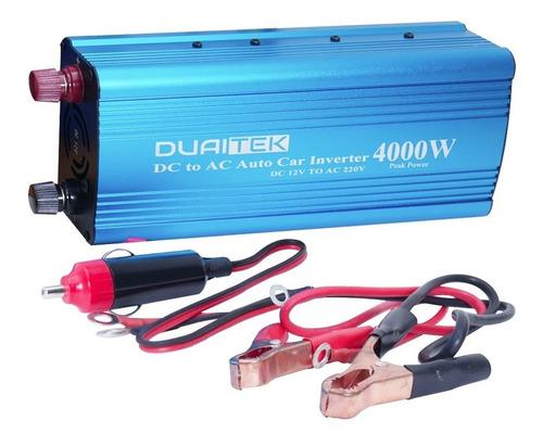 Inversor Conversor 12v A 220v Alterna 4000w Bateria De Auto