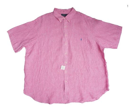 Camisa Ralph Lauren 4xl Classic Fit 100% Lino
