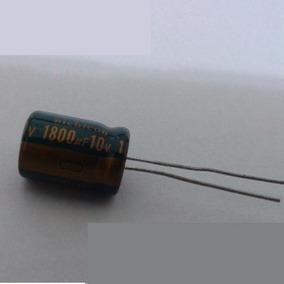 Capacitor Eletrolítico 1800uf X 10v Kit 10 Peças Em Estoque