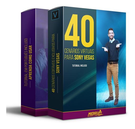 40 Cenários Editáveis Para Sony Vegas Full Hd + Tutorial