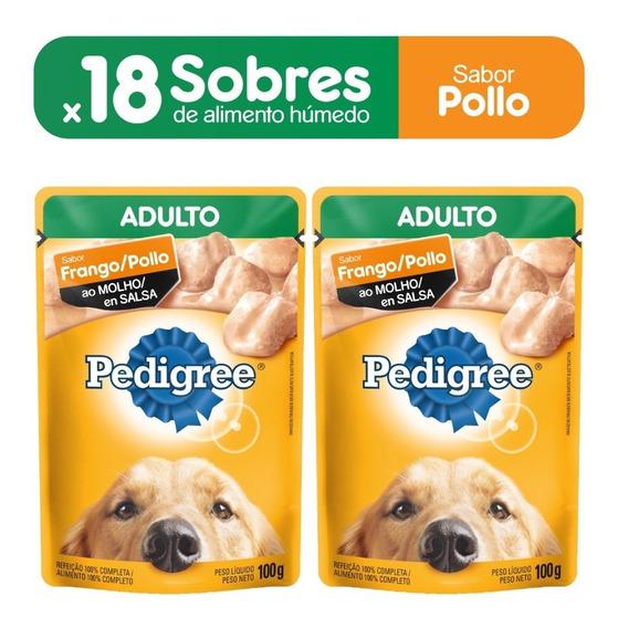 Alimento Perro Pedigree Sobres Adulto Pollo X100gr(pakx18un)