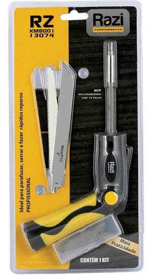 Kit Multifuncional Parafusar Serrar Reparar 20 Pç Razi 13074