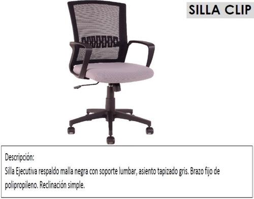 Silla De Oficina Clip O Click Para Escritorio O Home Office