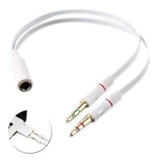 Splitter Convertidor Cable Micrófono Audífono 3.5mm