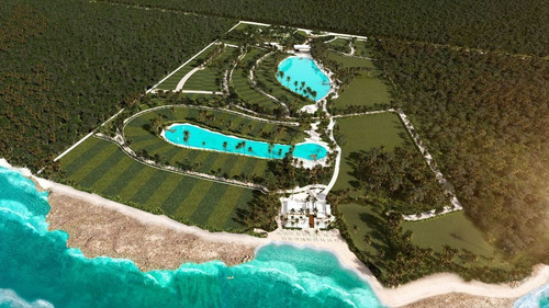 Imagen 1 de 30 de Terreno Frente Al Mar Con Club De Playa Y Amenidades En Resi