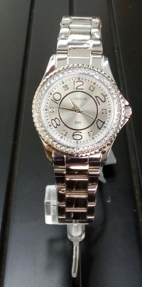 Relógio Lince Feminino Com Detalhes Em Strass