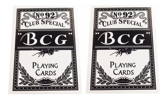 Kit 2 Baralho Bcg Extra Selected Club Special Poker