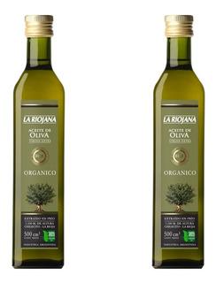 Aceite De Oliva Extra Virgen Organico La Riojana X500cc X2u