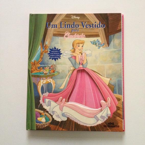 Livro Disney Um Lindo Vestido Para Cinderela 20 Páginas E474
