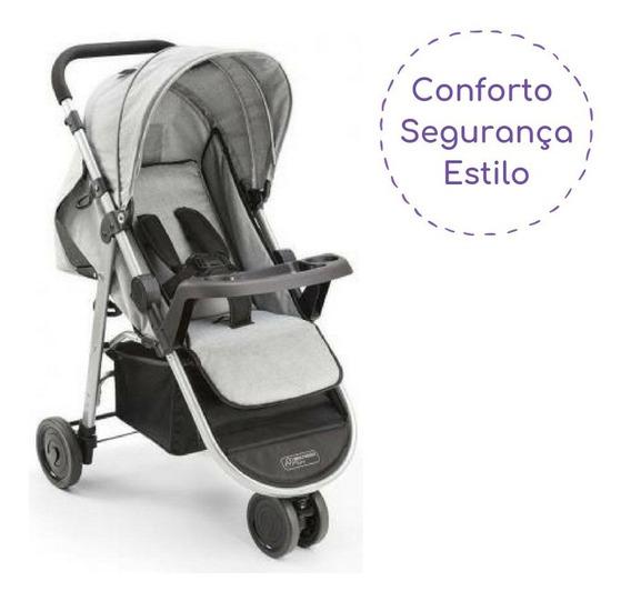 Carrinho De Bebê 3 Rodas Menino Multikids Até 15 Kg