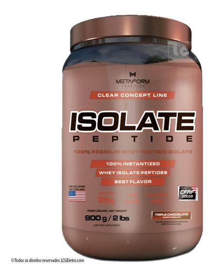 Whey Protein Isolate Peptide 100% Isolado 900g Metaform
