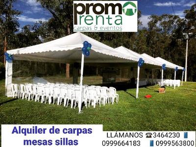 Alquiler De Carpas Mesas,sillas,tarimas,manteleria,vajilla