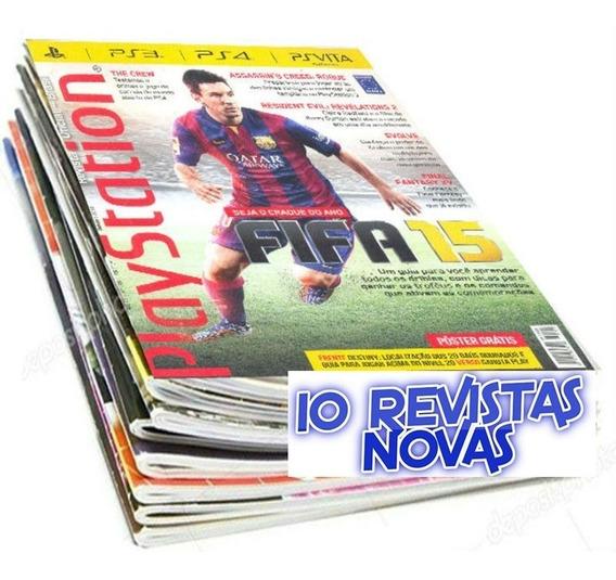 Revista Playstation Ps3 Ps4 Psvita 10 Volumes Com Pôsteres