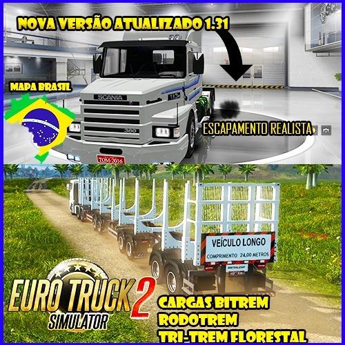 Euro Truck Simulator 2 Estradas E Caminhão Brasileiro 2018